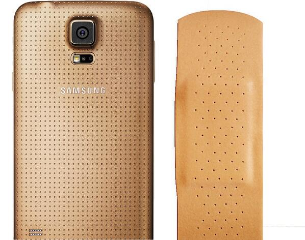 The Galaxy S5 Gold, or what I call the Galaxy S5 Band-Aid http://t.co/xU5fzvWrvz