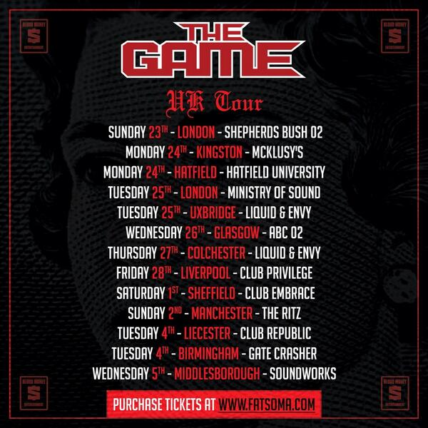 #BloodMoney UK Tour schedule! Check out @thegame @leauXsteez @NuJerzeyDevil @KidRED_ @avanteRose @BwsByrd @taydoetv http://t.co/OB2nvM7aFF