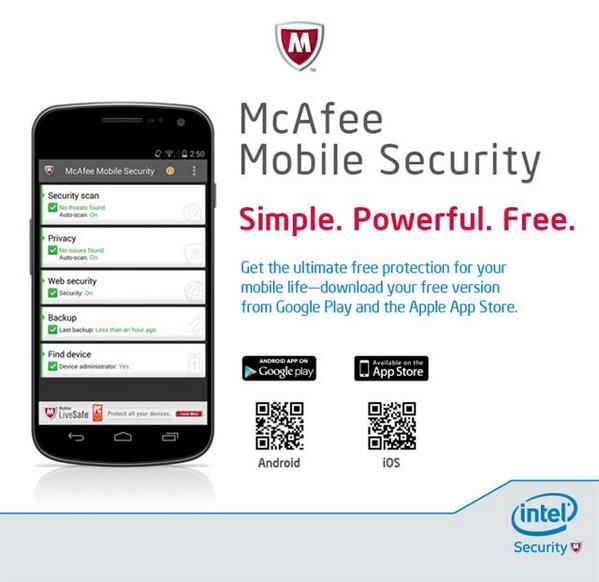 Free McAfee Mobile Security from @Intel? Yes, really... seriously. #MWC2014 http://t.co/Z0G1VyrknB #4biz http://t.co/KBBr14v6Pg