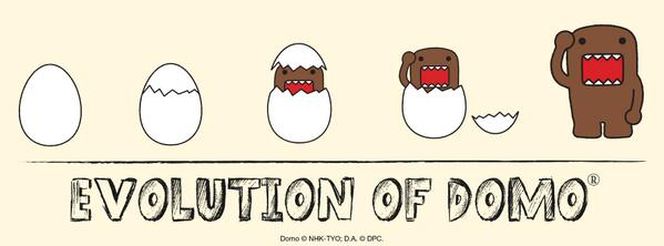 The answer to the age old question. Which came first, Domo or the egg? Also, I feel eggcellent today. #evolution #egg http://t.co/Xzml6GPGJb