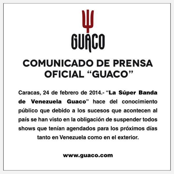 Es importante para nosotros la solidaridad con nuestro país en estos momentos. Guaqueros, aquí un comunicado. > http://t.co/kyuKGg13DR