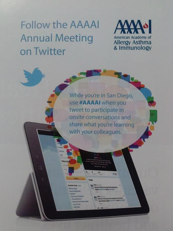 Official hashtag for 2014 meeting is #AAAAI - tweet and follow for all the latest allergy, asthma, immunology news http://t.co/YGBTm8fT4S