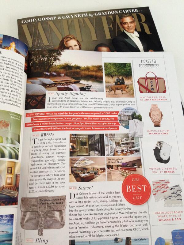 Have you spotted our glowing review in the latest edition of @VanityFair? Grab a copy and have a read! http://t.co/1FqSIUfo0q