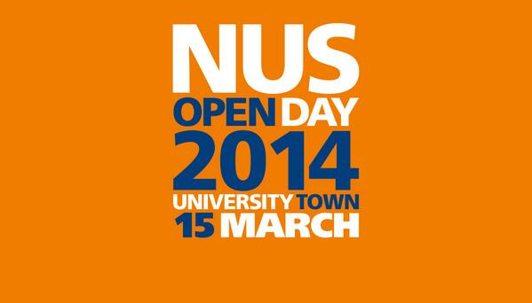NUS Open Day is just weeks away! Save the date 15 March 2014.  For more information, visit http://t.co/HgFo609UNo http://t.co/VnnwfFoB8b