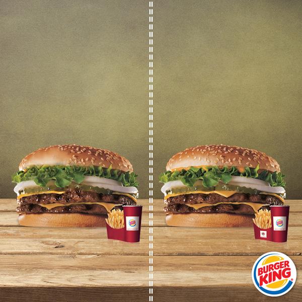 Bunu bilsen bilsen sen bilirsin. İki menü arasında kaç fark var Burger King'çi? http://t.co/z7bXaEUMaN