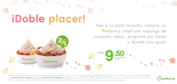 ¡Regresó el 2x1! Acércate a tu Pinkberry favorito y pregunta por Katia para acceder a mi súper promoción :) http://t.co/iQbXv7HVEt
