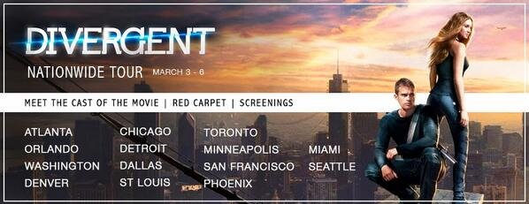 . @VeronicaRoth is going on tour with the #Divergent movie! Details here: http://t.co/k4tubxbIly http://t.co/AipFdsGZ06