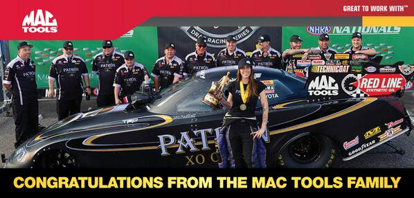 Congratulations to @AlexisDejoria & @TeamKalitta on the win this weekend #mactools #Greattoworkwith #NHRA #patron http://t.co/Ehls2860Ke
