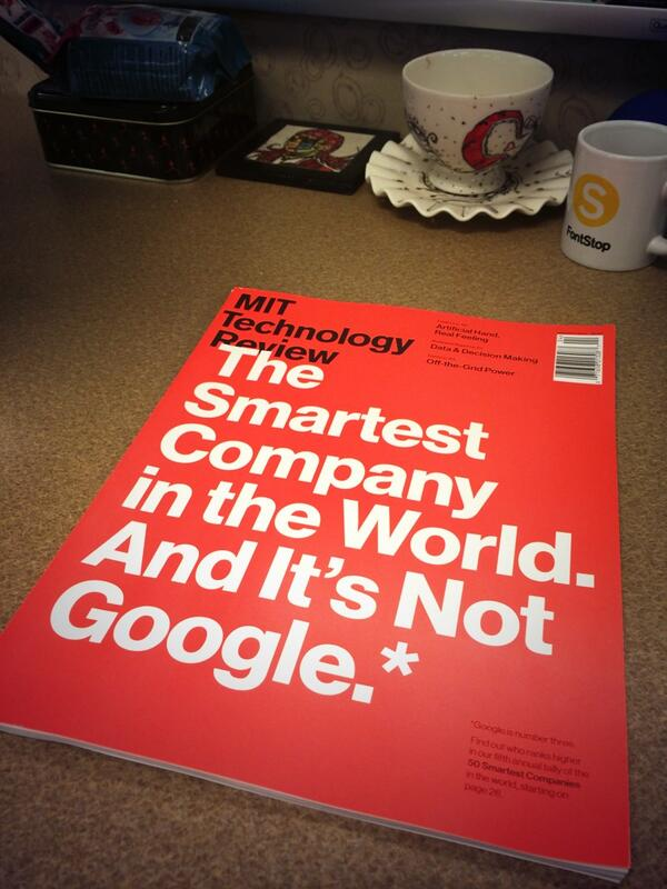 The new March/April issue of @techreview has another awesome cover design by Eric Mongeon + design team. http://t.co/UfGlBpmpMY