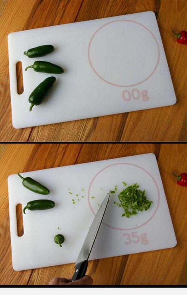¿Qué os parece esta tabla de cortar con báscula incorporada? ¡Genial idea! http://t.co/GHqoVIPgQz