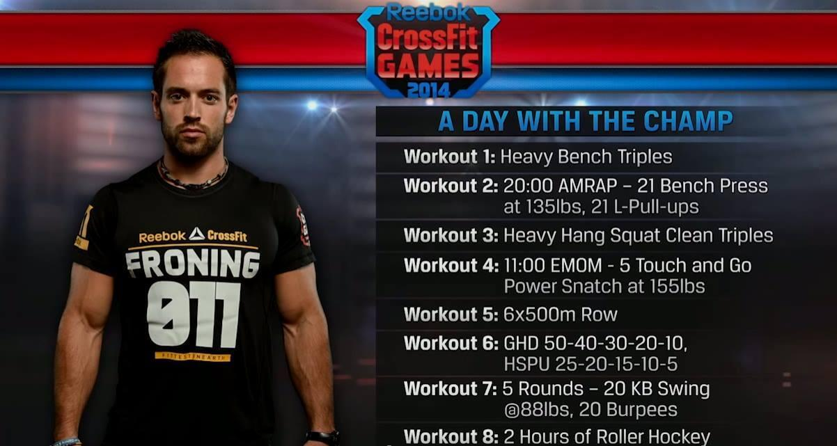 RT @CrossFitGames: A day of training with @richfroning, the Fittest Man on Earth. #UpdateShow http://t.co/gfjwOREt54