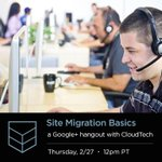 Join our CloudTech team this Thursday 12pmPST for a discussion on server migration basics: http://t.co/NCQmwE6dEG *DJ http://t.co/XjGTPwqZY5