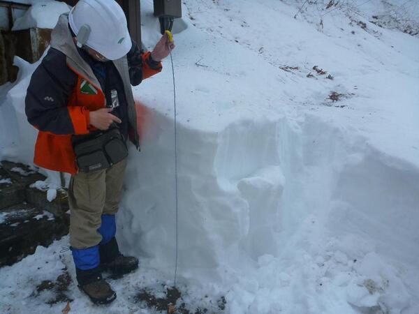 【登山情報】東京都レンジャーからの報告によれば、鳩ノ巣駅~御岳山間の大楢峠では今でも1m近く雪が積もっているそうです。歩行が大変困難な状況ですので、安易な入山はお控えくださいm(_ _)m(自然公園担当)#雪 http://t.co/USsgncysdt