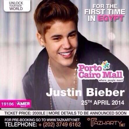 To all BELIEBERS from EGYPT. @justinbieber is not coming to Egypt this year. This is FAKE. Pls spread the word http://t.co/ebNhgGjGyi