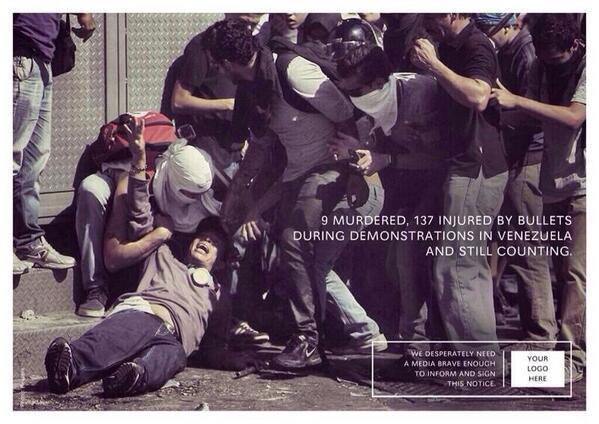 Cuando los países callan sólo tu RT es la voz que muestra al mundo las 13 muertes y 200 heridos #SOSVenezuela http://t.co/yaagnqhzWF