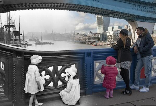 Some bloody impressive old/new merged images of London from @Museumoflondon http://t.co/ICSKw1hQyR http://t.co/SaDCZmWGtn