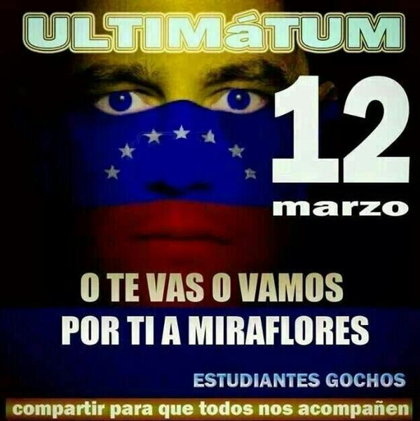 Advertencia gocha a maduro http://t.co/D6oLoGtemd
