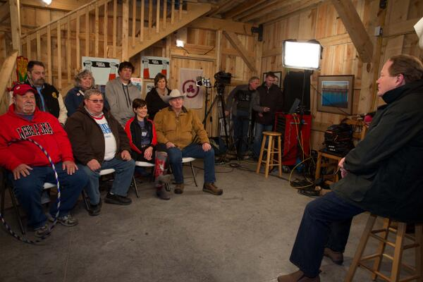 Thanks to @edshow for listening to #Nebraska farmers & ranchers, #Native voices and standing with us to say #NoKXL! http://t.co/53zzTvK6Ec