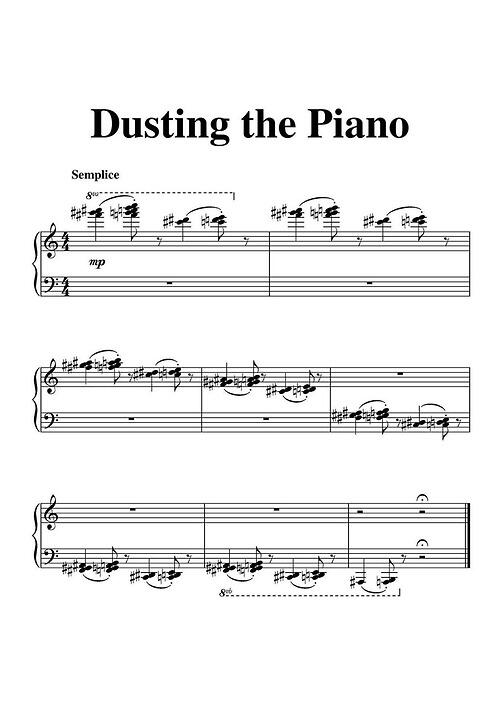 """Here's a great little piece called """"Dusting the Piano"""": #musichumor #classicalmusic #piano #music http://t.co/yRdBLldbg0"""