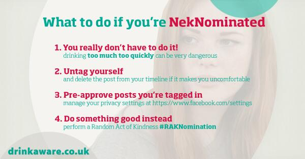 No one should feel bullied or pressured online. Here's some advice on what to do if you're #NekNominated http://t.co/IvIn7nDu3K