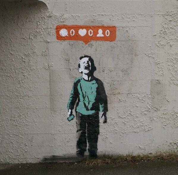 Banksy! Brilliant. http://t.co/UO4F0y4f8m