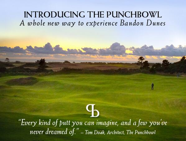 18-hole putting course designed by Tom Doak. Opens May 20th. Make #ThePunchbowl part of your next trip 1-800-742-0172 http://t.co/fCXb94M6Fl