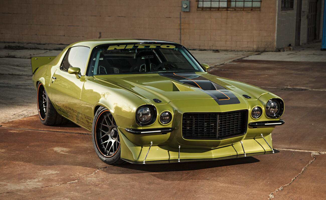 Randy Johnson's '73 Pro Touring #Camaro caused quite a scene at the 2013 #SEMA show. http://t.co/sQocllNpPv