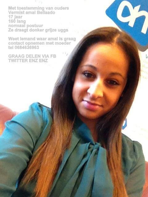 De 17e jarige Amal uit Bergambacht is helaas nog steeds vermist. Bel met info 0900-8844. #burgernet #vermist http://t.co/AzpOrD8mdy
