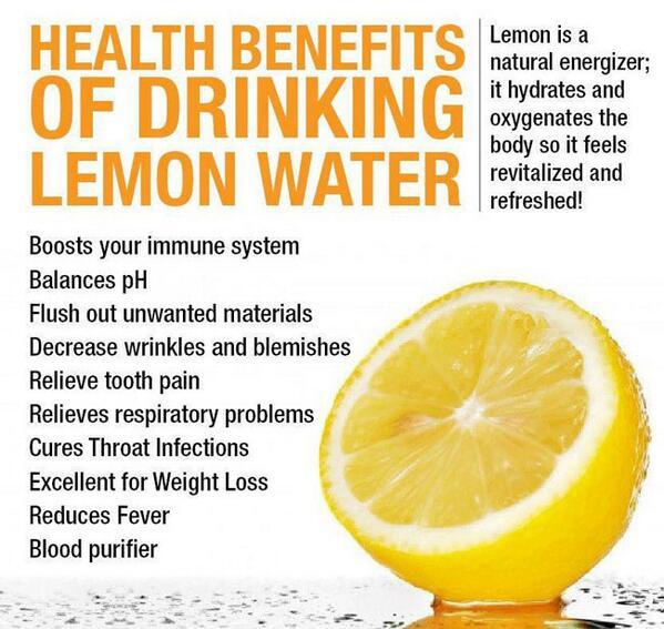 Health benefits of drinking Lemon Water.   via: http://t.co/eOq0meahqy http://t.co/v8gqMKJtTt
