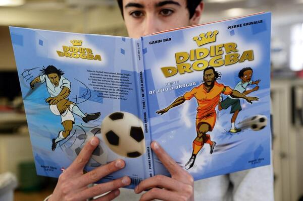 BhfRj3fCcAEh4zZ Super Drog! Chelsea legend and Galatasaray striker Didier Drogba gets his own comic book series