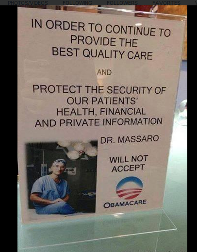 #Obamacare  Coming to a doctors office near you!  #FullRepeal http://t.co/HRlDQYXV0p