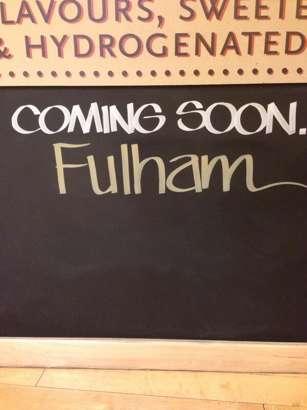 Coming soon Fulham.. @WFMLondon http://t.co/CyaiC14KQ6