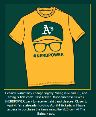 Celebrate NERDPOWER w/ #EricSogard on 4/4 w/ a SPECtacular tix/shirt/glasses offer. http://t.co/zwzUaL4KLy #FaceofMLB http://t.co/0qgbm71ecv