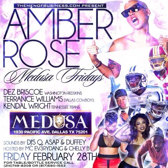 Tomorrow though! @MedusaDallas is the only place to be! With the beautiful @DaRealAmberRose hosting!
