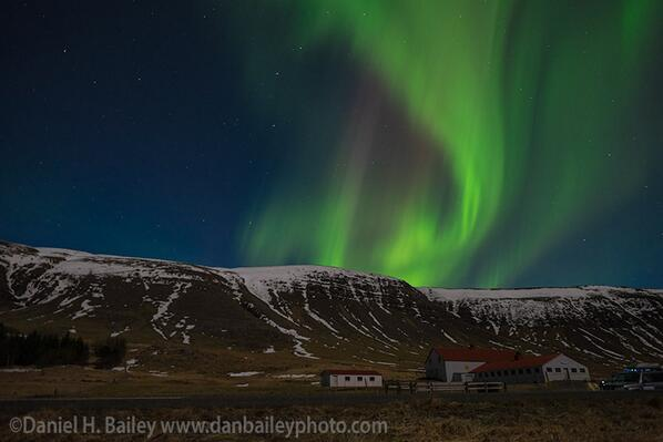 Recent #AuroraBorealis display from outside Reykjavik, #icleand. http://t.co/66vR1ezY9E