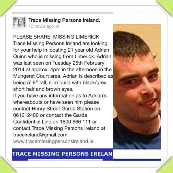 Missing person from Limerick http://t.co/mPEmZI7GJ4