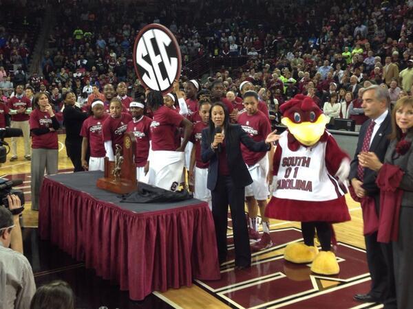 Your 2014 #SEC Champions #GamecockWBB #GoGamecocks! http://t.co/J0kNdm31Cv