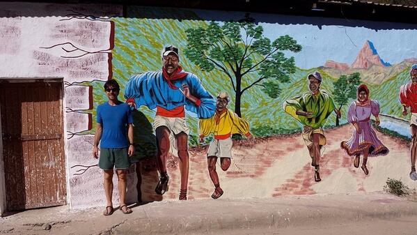 Monkeys! Awesome mural just finished in Urique, Mexico, home of the @ccum #ccum2014 http://t.co/lpotKubLaU