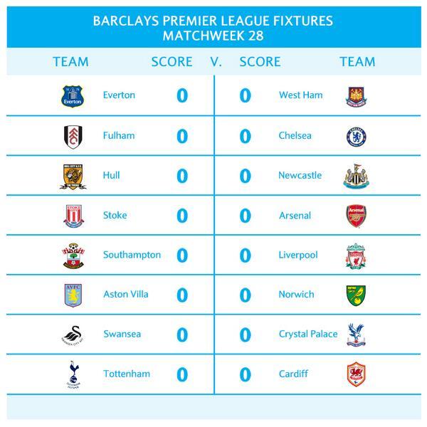 barclays premier league games today