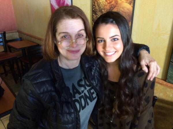 Me and Lisa Cimorelli at Subway in Venice. Shooting with #Cimorelli  How great are they!!! http://t.co/TLm7r5D24F