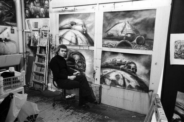HR Giger working on Jodorowsky's Dune http://t.co/PzJX6p8Xu6