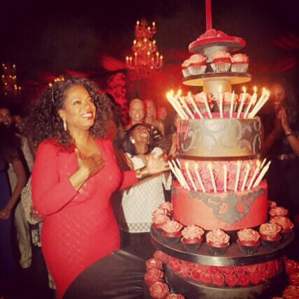 She Wouldnt Let Me Throw Her A Surprise Party But I Did With 60th Birthday Cake Last Night Oprah