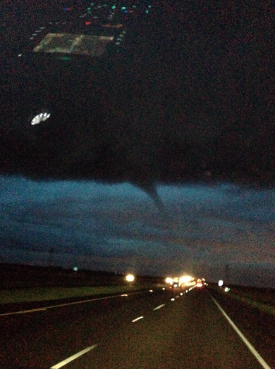 Andrea Butera (@AndreaButera): Funnel cloud in Northern California (Pic by Stephanie DeBo) - http://t.co/IKvj5upEZC via @anthonywx, via @MatthewKeysLive