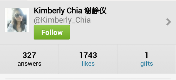 "Dear kimchis, pls take note that our dear @kimberly_chia do not have ""ask.fm"" account. Pic attached is fake account. http://t.co/4M4ITPT0oS"