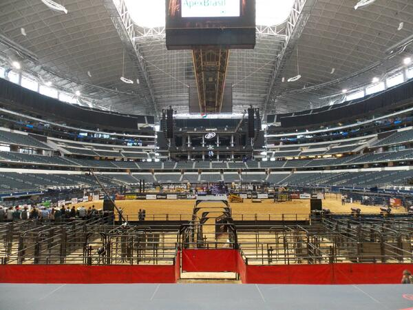 THE FINAL COUNTDOWN: the @PBR is just over four hours away from hosting the Dr Pepper #IronCowboy V at @ATTStadium. http://t.co/ORnlNeKlUt