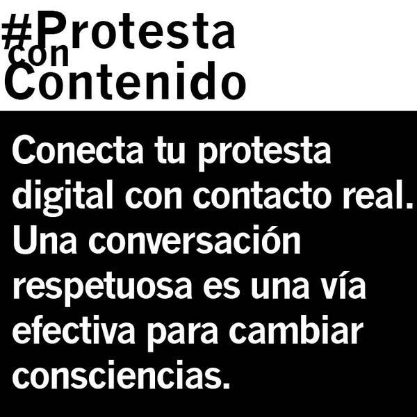 No desestimes el poder de una conversación respetuosa #ProtestaConContenido http://t.co/wQt9TUTMqs