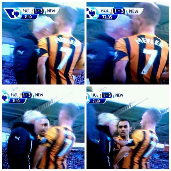 BhqG6wvIMAAOMhB Every angle of Newcastle boss Alan Pardew headbutting Hulls David Meyler in 12 pictures