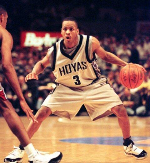 Congratulations to @alleniverson on having his jersey retired tonight by the @Sixers! #NBAhoyas #wearegeorgetown http://t.co/N9Ywhl60mt