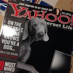 Vintage 1999 issue of Yahoo Internet Life from @MarieDomingo's collection, with privacy story by Cindy Crawford.