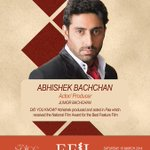 RT @EFIL2014: Abhishek Bachchan is coming to EFIL. Are you?  #EFIL14 #lsesu @juniorbachchan